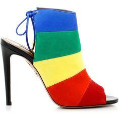 20145d2ca07 Aquazzura Aquazzura Rainbow Sandals ( 650) ❤ liked on Polyvore featuring  shoes