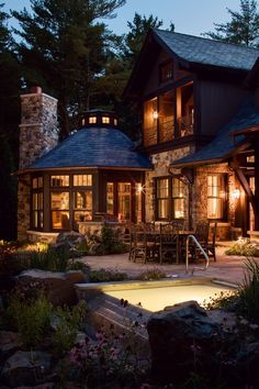 Interior Design & Exterior Architecture -Lagunabay: Interior Design & Exterior Architecture - The summer night is like a perfection of thought. Dream Home Design, Modern House Design, My Dream Home, Style At Home, Design Exterior, Luxury Homes Dream Houses, Luxury Cabin, Log Cabin Homes, Cabins