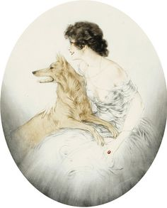 "Louis Icart, ""Best Friends"""