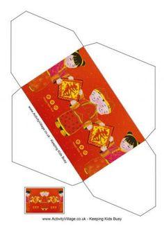 Happy New Year Children Envelope