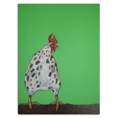 Rooster in Green - Eli Halpin's Glass Cutting Boards - Printfection.com $49.99