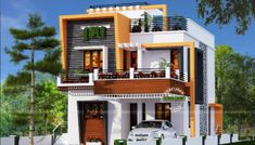 Simple and Elegant Small House Design With 3 Bedrooms and 2 Bathrooms - Ulric Home Simple House Design, Minimalist House Design, Minimalist Home, Modern Bungalow House, Bungalow House Plans, Single Storey House Plans, 3 Storey House Design, Architectural House Plans, Roof Deck