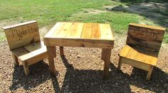 Serene Village  Reclaimed Wooden Kids Table and by SereneVillage, $145.00
