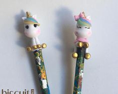 Clay Ballpoint Pen (Unicorn, baby groot, animals, custom)
