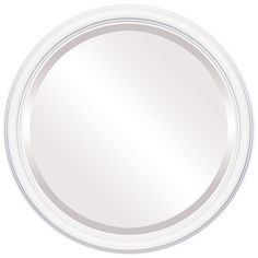 The Oval And Round Mirror Store Saratoga Framed Round Mirror in Linen White, 25 Round Wall Mirror, Wall Mounted Mirror, Beveled Mirror, Round Mirrors, Framed Mirrors, White Mirror, Mirror Store, Diy Home, Mirrors Wayfair