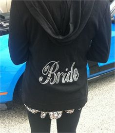 Bling Bride Crystal Hoodie - Bride Jacket and Pants - Bridal Hoodie - Bridal Sweatsuits