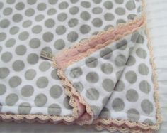 ♥✿´¯`*•.¸¸✿Made to order in 3-5 days.  ♥✿ To request this in a different color minky back, size, or style email me at ; https://www.etsy.com/shop/GrannyBirdzStitches?ref=hdr_shop_men  ♥♥♥This Baby Blanket is the MUST-HAVE item for bringing baby home and is the perfect gift for any new mother or for your own new baby. It is something your baby will treasure for years to come. Not only is it the ideal blanket for bringing baby home, but it will grow with your child...