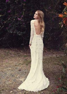 Alternative boho wedding dress
