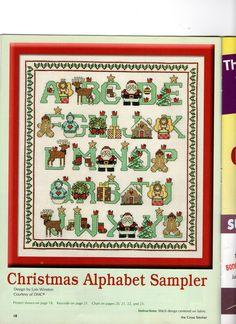 CHRISTMAS ALPHABET SAMPLER (1) Baby Cross Stitch Patterns, Christmas Alphabet, Stitching, Chart, Holidays, Sewing, Holiday Decor, Winter, Fabric