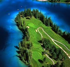 An aerial perspective of Canada's #1 Resort Golf Course, as voted by ScoreGolf Magazine. Alberta, Canada