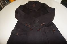 caban années 70 vintage pea coat peacoat double breasted 1970 70s