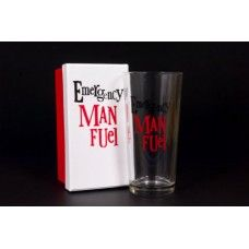 Beer Glass - Emergency Man Fuel $19.95 - The perfect glass when 'emergency man fuel' (aka beer;) is required!