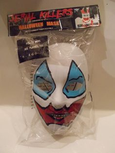 Custom Made Hand painted Ben Cooper retro style John Wayne Gacy Killer Clown Halloween/cosplay mask with string, sealed in custom bag as well that reads Serial Killers of the Good Ol' USA. | eBay!