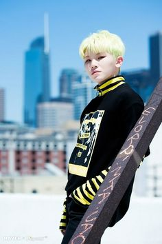 woozi is cute and adorable and all, but what the hell does the letters on that pole mean???
