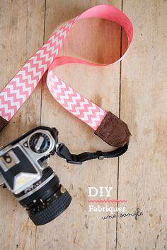 [DIY] Fabriquer une sangle d'appareil photo. Chevron camera strap