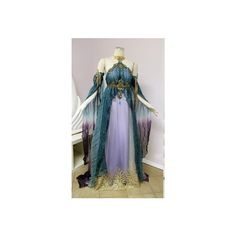 Forest fairy costume ❤ liked on Polyvore featuring costumes, christmas elf costume, renaissance costumes, fairy costume, elf halloween costume and blue costumes