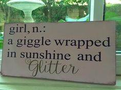 Love this! Nursery Decor,Woman Definition-a giggle wrapped in sunshine and glitter,Women nursery,Woman Wall Artwork, Women Room,Child Bathe,Child Bathe Present