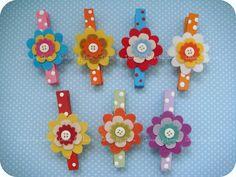 Prendedores decorados by Artes by Dani, via Flickr