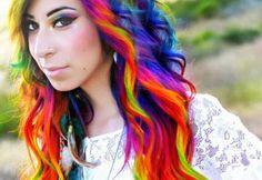 Awesome Rainbow Hair!!