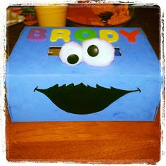 Cookie monster Valentine box. & My World - Made By Hand: Girly Monster Valentine Box tutorial ... Aboutintivar.Com
