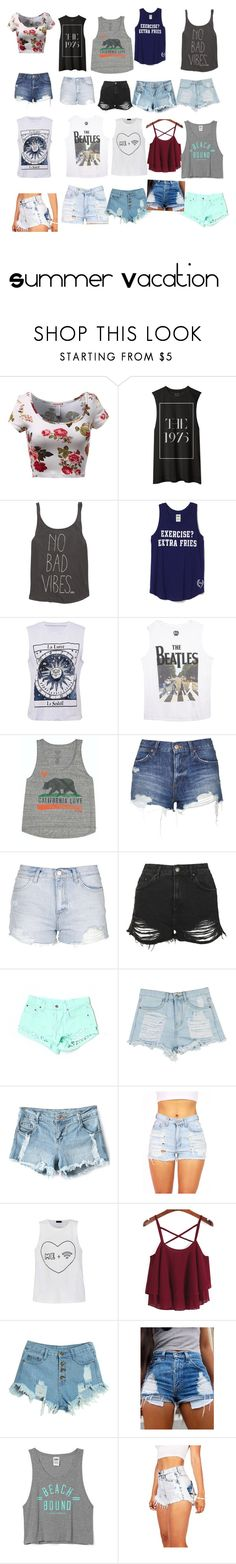 """Summer Vacation pt. 1 (Outfits)"" by ratchetcanadian on Polyvore featuring Billabong, Wet Seal, Topshop, Carmar, Ally Fashion, WithChic, Victoria's Secret, women's clothing, women and female"