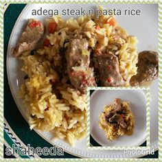 Rice Dishes, Steak, Grains, Pasta, Food, Riddling Rack, Meals, Noodles, Yemek