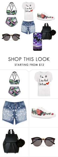 """""""Untitled #5"""" by bjanea-cx on Polyvore featuring WearAll, Mat, Gucci, IMoshion, Illesteva and plus size clothing"""