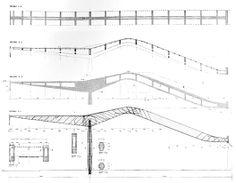 Stazione Termini, disegni tecnici della pensilina