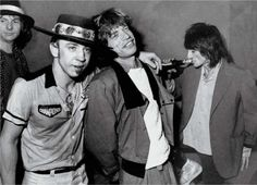 Stevie Ray Vaughan Mick Jagger Ronnie Wood 1982 B&W Photo Celebrity Stevie Ray Vaughan, Mick Jagger, Eric Clapton, Wisconsin, Los Rolling Stones, Ron Woods, Hippie Man, Dallas, Ronnie Wood