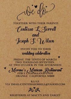 100+printed+kraft+invitations+and+envelopes+for+Contessa+-+$100.00