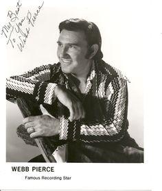Webb Pierce Country Singer | WEBB PIERCE SIGNED PHOTO - $25