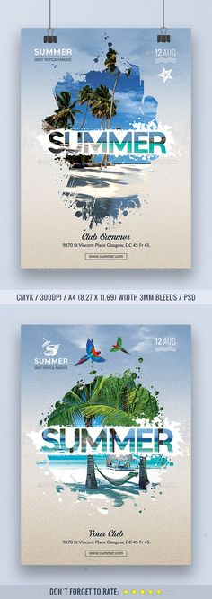 #Summer #Flyer - Events Flyers Download here: https://graphicriver.net/item/summer-flyer/19633682?ref=alena994