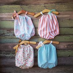 Romper burbujas Braga verano traje de ropa de bebé de by ShelbyJaneandCo | Etsy