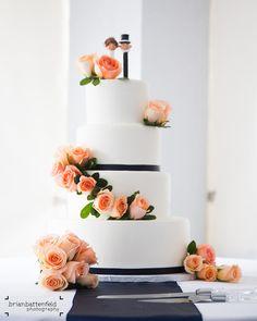 Funfetti wedding cake with pez dispenser cake topper