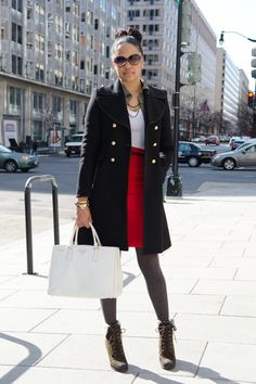 Month Of Street Style via @refinery29 adorable look from March 13th in Washington, DC
