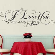 I Love You Quote - Grey Vine Wall Decal