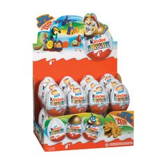 A bulk box of 24 Kinder Surprise Milka Chocolate, Chocolate Color, Ferrero Rocher, Chocolate Candy Brands, Disney Princess Nails, Unicorn Cupcakes, Chocolate Packaging, Baby Birthday, Rocky Road
