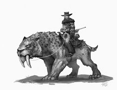 Smilodon ain't a dinosaur but it's my series and I do what I want😆. Expect more prehistoric mammals roaming the Wild West. Dinosaur Drawing, Dinosaur Art, Dinosaur Crafts, Fantasy Creatures, Mythical Creatures, Character Inspiration, Character Art, Extinct Animals, Prehistoric Creatures