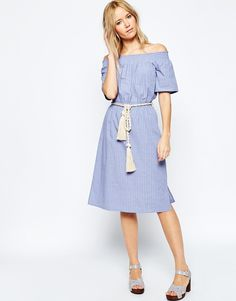 ASOS+Off+Shoulder+Dress+with+Rope+Tie