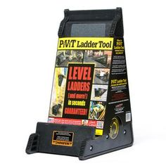 The PiViT Ladder Tool is the ultimate extension ladder leveler. This ladder leveler is a must have for any extension ladder owners. Woodworking Hand Tools, Youtube Woodworking, Woodworking Videos, Woodworking Plans, Woodworking Classes, Ladder Leveler, Roof Ladder, Ladder Accessories, Shopping