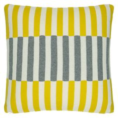 Buy House by John Lewis Dominoes Cushion, Yellow Online at johnlewis.com