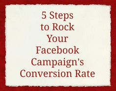 5 Steps to Rock Your Facebook Campaign's Conversion Rate — Amy Porterfield