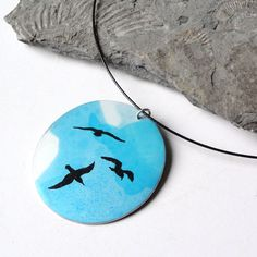 Turquoise seagull necklace £14.00