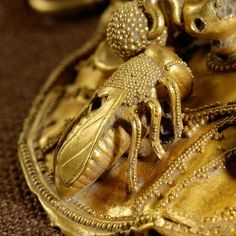 Gold Bee from Eastern Greece, (detail) 7th century BCE, Nasher Duke Museum, NC
