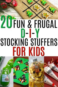 20 fun and frugal DIY stocking stuffers for kids! If Santa is on a budget this year have no fear. These amazing stocking stuffers will be the hit of Christmas morning. Fun, unique cheap and practical gift ideas. Diy Christmas Gifts For Kids, Christmas On A Budget, Diy Gifts For Kids, Homemade Christmas Gifts, Diy For Kids, Christmas Ideas, Handmade Christmas, Diy Gifts On A Budget, Diy Gifts Cheap