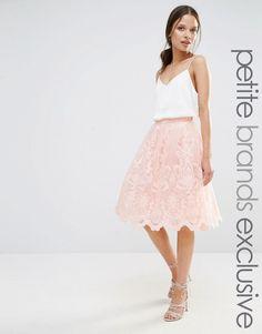 Chi+Chi+London+Petite+Premium+Lace+Full+Prom+Midi+Skirt