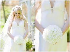 My wedding day - my stunning silk flower hydrangea bouquet steals the show