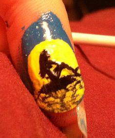 The Little Mermaid nail art By JMC