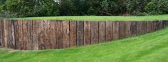 7 Wealthy Tips: Modern Fence Black Privacy Fence Netting Home Depot.Modern Fence And Gate Ideas Front Yard Concrete Fence Ideas. Railroad Ties Landscaping, Fence Landscaping, Backyard Fences, Garden Fencing, Pool Fence, Back Gardens, Outdoor Gardens, Retaining Wall Fence, Railroad Tie Retaining Wall