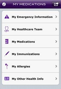 """New app from the AMA """"patients can store, carry and share their critical medical information (i.e. medications, allergies, emergency contacts, etc.) in one secure place.    My Medications is available for the Apple iPhone®, iPad® and iPod Touch® on the AMA iTunes store."""""""